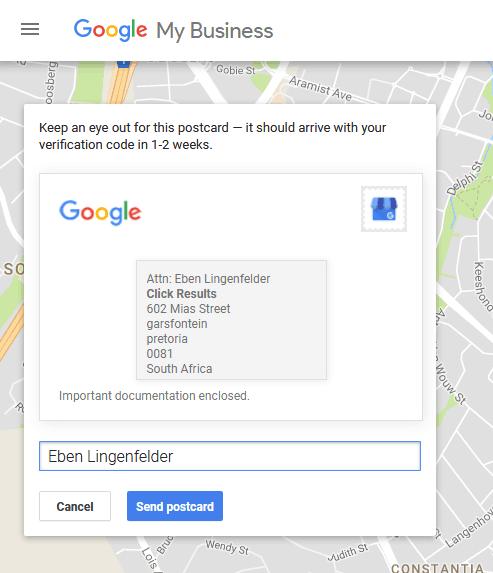google my business listings IV